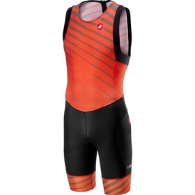 Castelli Short Distance Mono de carreras Aero Hombre, orange